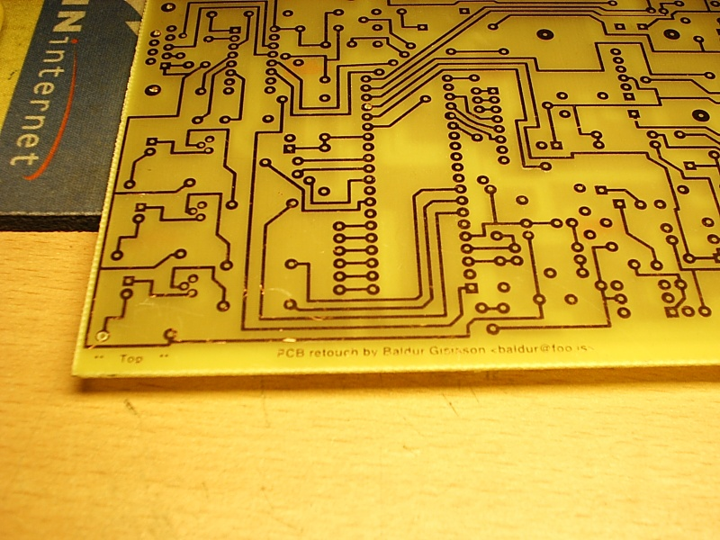 Megasquirt PCB, layout retouched and etched by me
