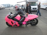 Pink turbo bike